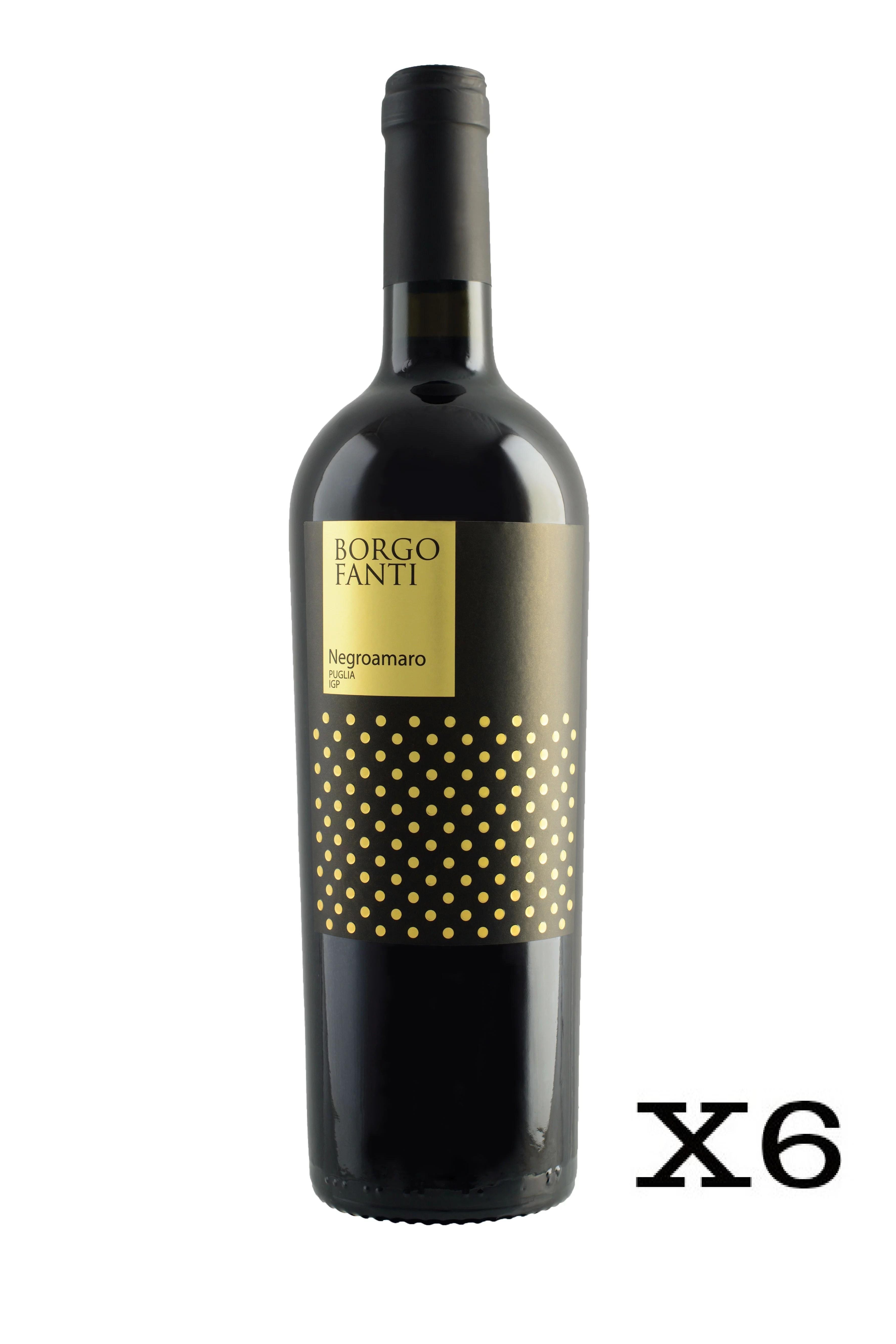 Borgofanti Negroamaro di Puglia IGP - 6 bottiglie da 75cl