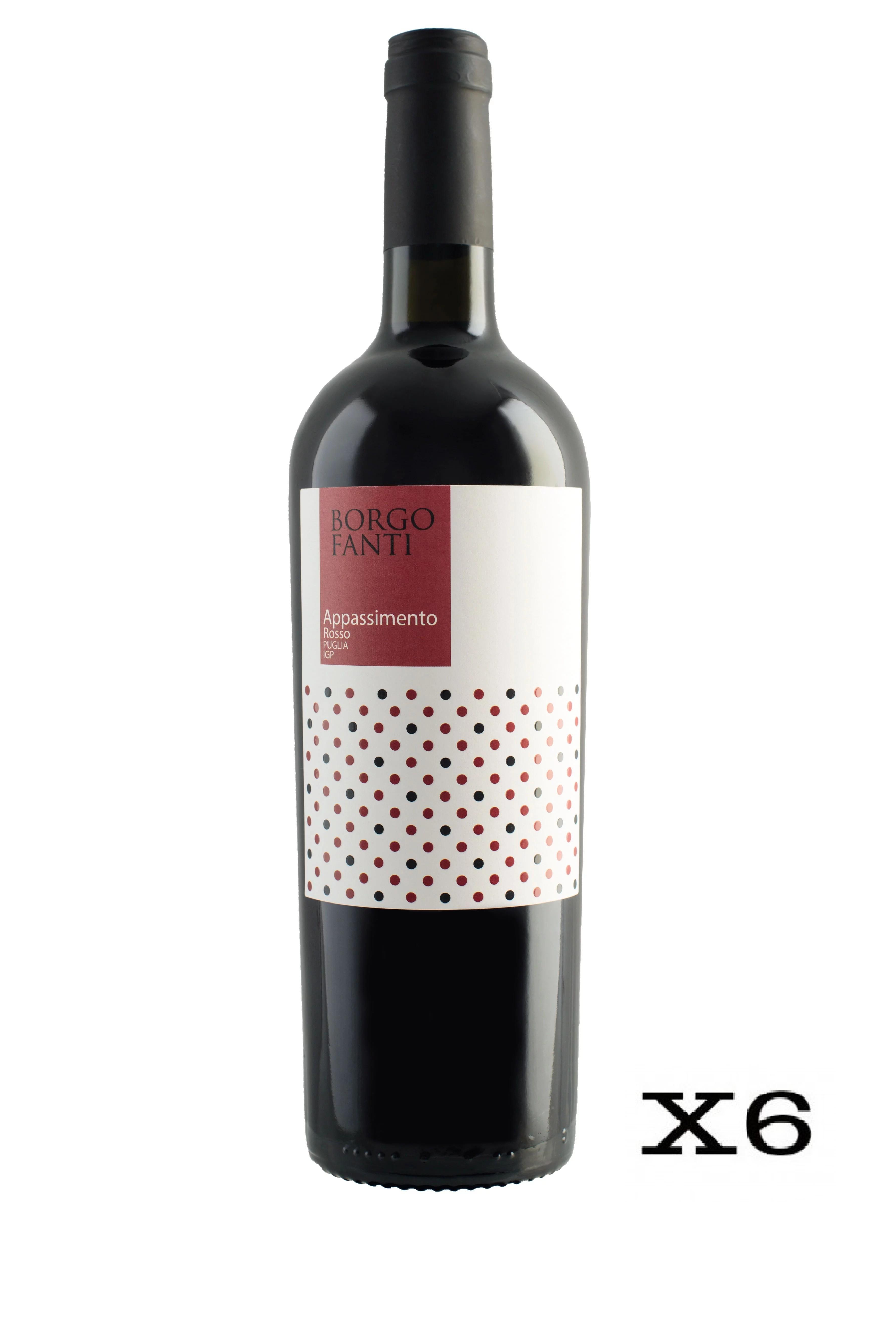 Borgofanti Rosso IGP Puglia Appassimento - 6 bottiglie da 75cl