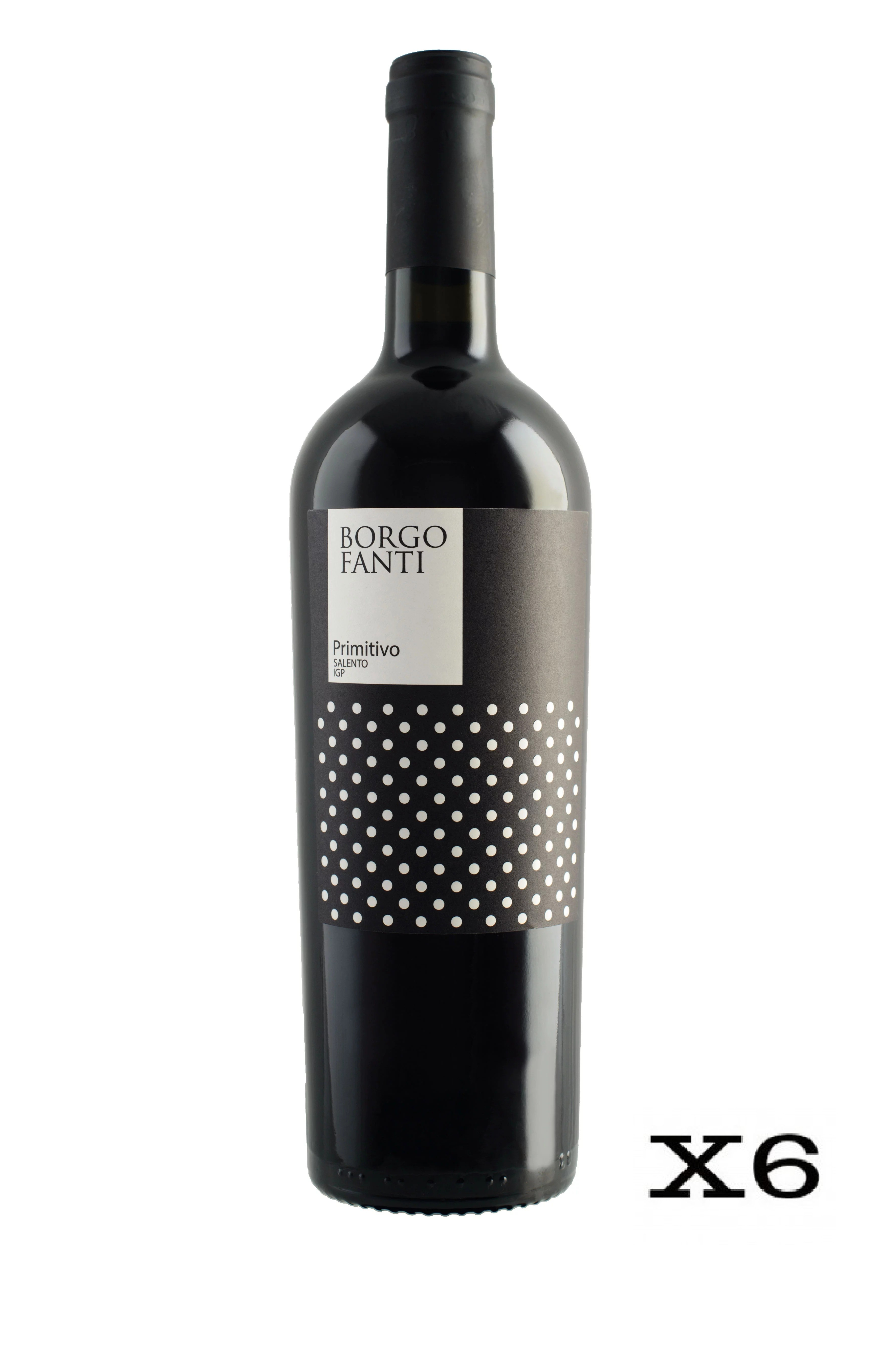 Borgofanti Primitivo IGP Puglia - 6 bottiglie da 75cl