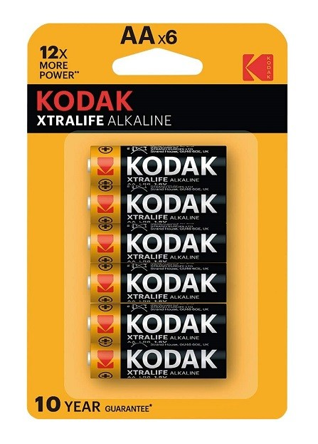 KODAK Xtralife AA - Confezione da 6 Batterie