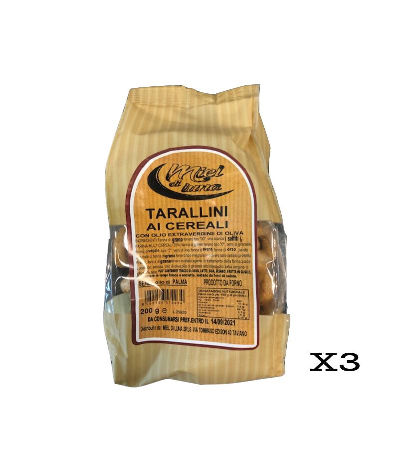 Miel di Luna Tarallini ai Cereali 200G 3 PEZZI