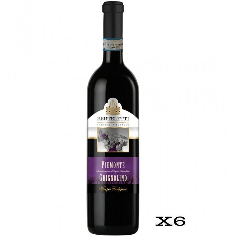 Berteletti Piemonte DOC Grignolino - 6 Bottiglie da 75cl