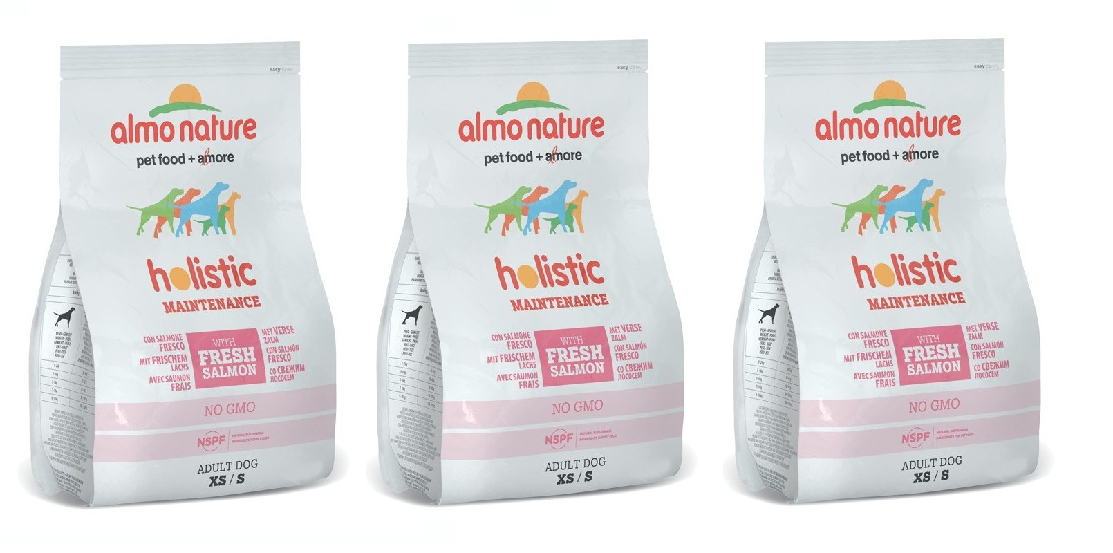 Almo Nature Crocchette per il Cane - Salmone XS/S 3X2KG