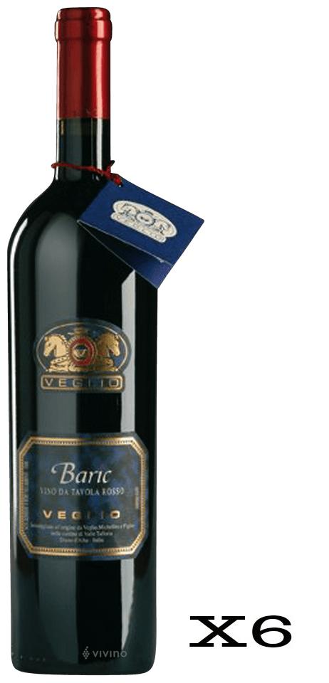 Veglio Baric Rosso  - 6 Bottiglie da 75cl