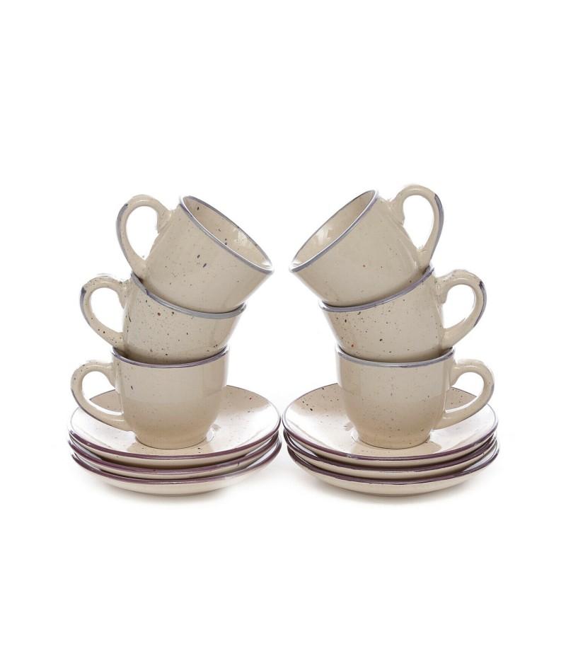 Set 6 Tazze Caffe' Dots...