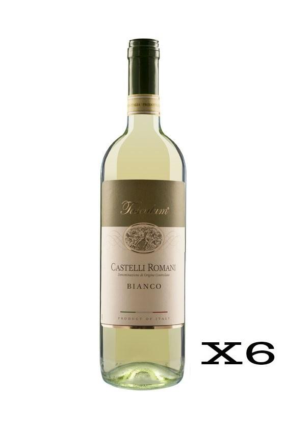 San Marco Tusculum Castelli Romani Doc Bianco 2019 - 6 Bottiglie da 75cl
