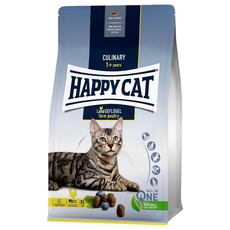 Happy Cat Land Geflügel Crocchette per il Gatto al Pollame di Campagna 10kg