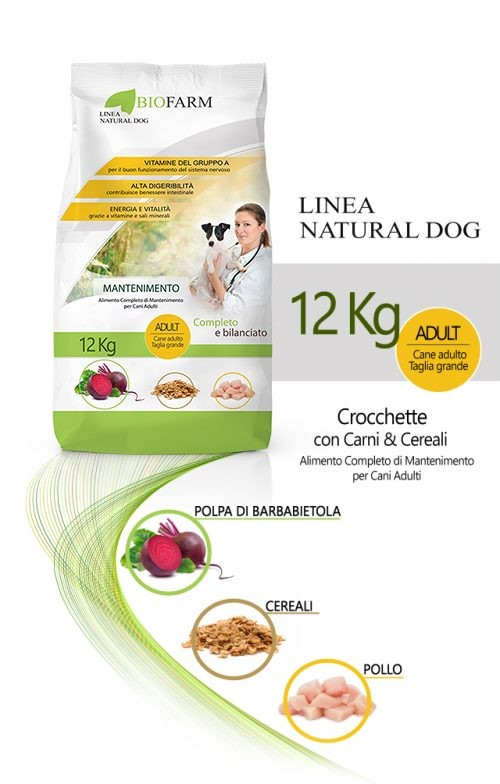 Biofarm Mantenimento Crocchette per il Cane al Pollo e Cereali 12kg