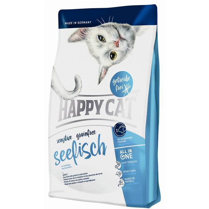 Happy Cat Seefisch Crocchette per il Gatto al Pesce di Mare 1,4kg