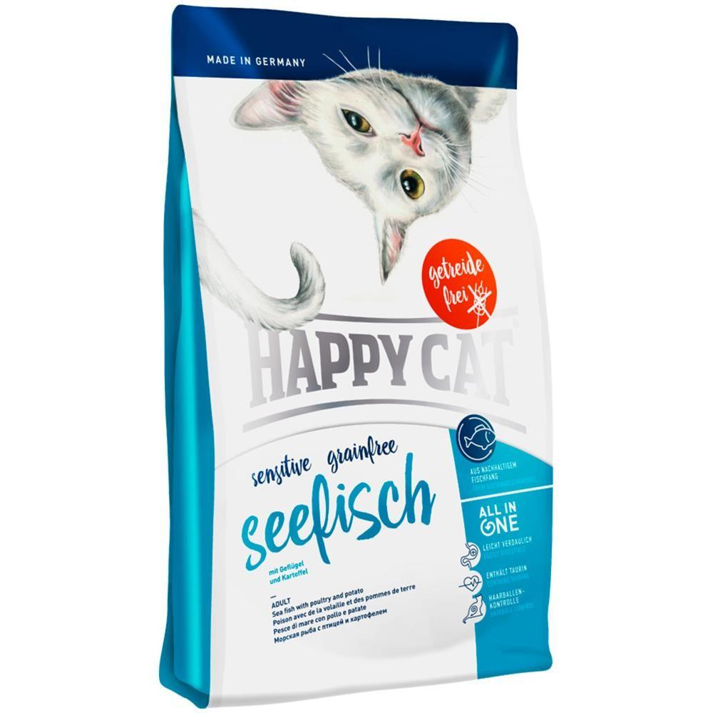 Happy Cat Seefisch Crocchette per il Gatto al Pesce di Mare 4kg