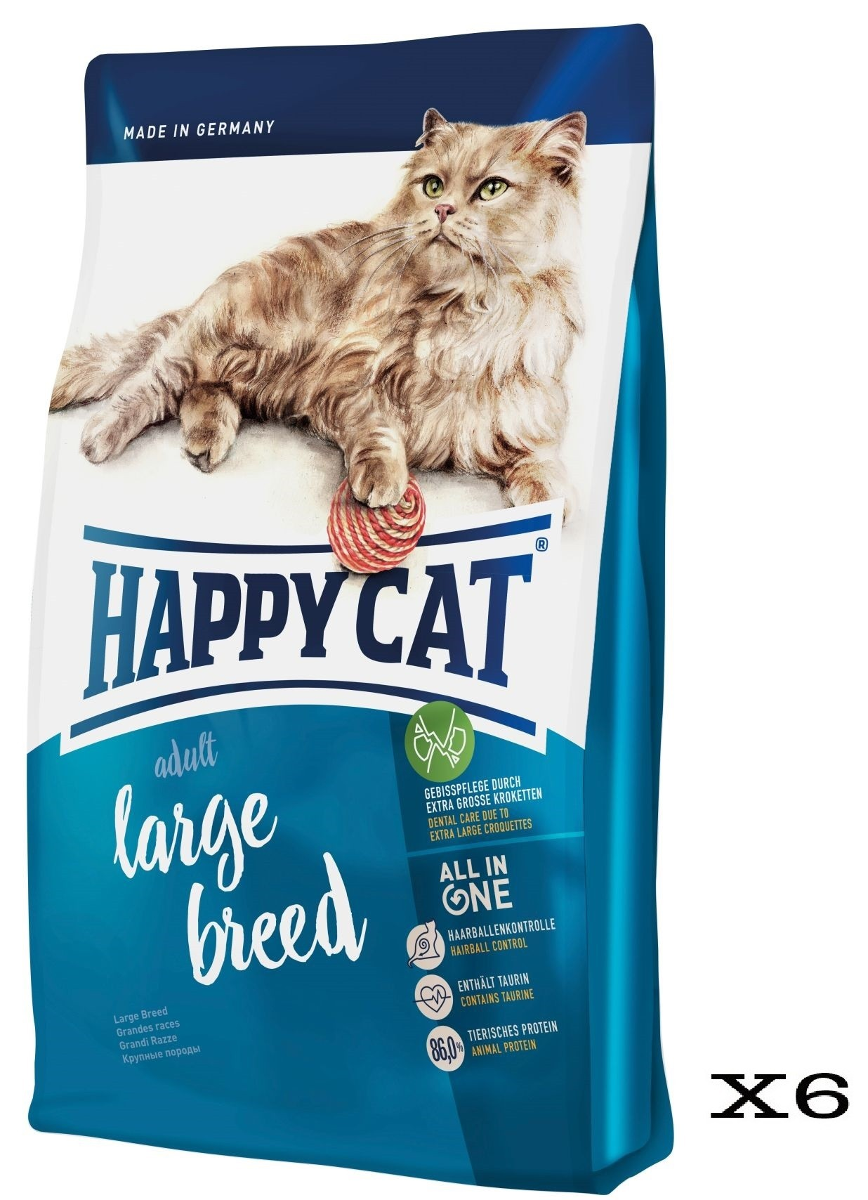 Happy Cat Large Breed Crocchette per Grandi Razze 6x300g