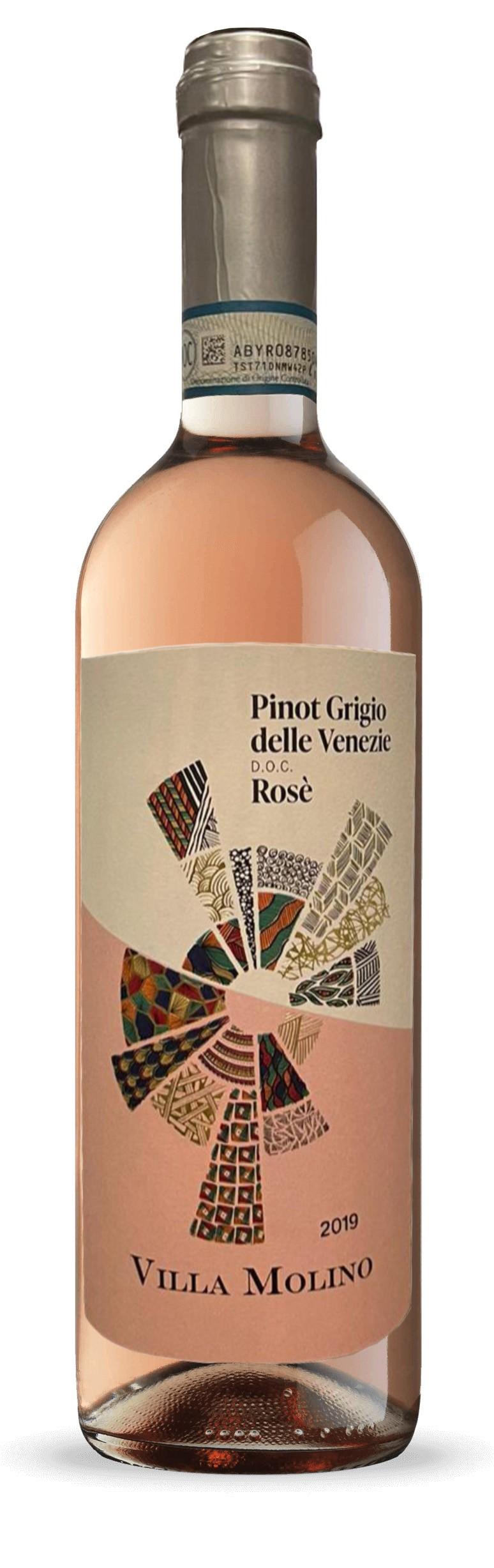 Villa Molino Pinot Grigio delle Venezie Rosè D.O.C. 2019 - 6 Bottiglie da 75cl