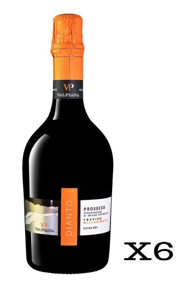 Valpiana Dianto Spumante Millesimato - 6 Bottiglie da 75cl